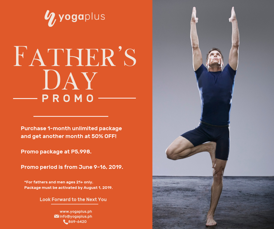 YogaPlus Father's Day Promo